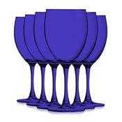 Cobalt Blue Colored Nuance Wine Glasses, 10 oz. Set of 6