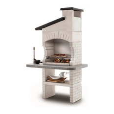 LaToscana Guanaco 2 Wood-Charcoal Grill/Fireplace w/ 4 Heights