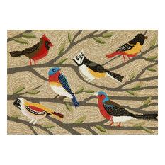 Liora Manne Frontporch Birds Indoor/Outdoor Rug Multi 2'6x4'