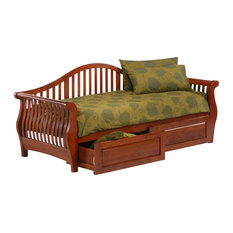 NIGHT AND DAY FURNITURE - Night and Day Nightfall Twin Daybed in Cherry - Daybeds
