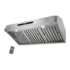 """36"""" Under Cabinet Stainless Steel Touch Panel Kitchen Range Hood Cooking Fan"""