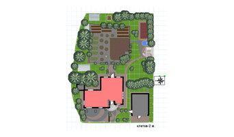 Схема, зонирование огорода, участок в Ревде