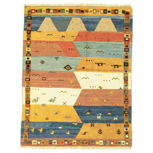 Nimbaft Nomads Persian Rug, Hand-Knotted, 198x152 cm