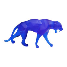 Daum Crystal Wild Panther Small Blue 05335