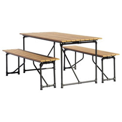 Industrial Outdoor Dining Sets by Courtyard Casual