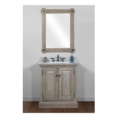 Barry Single-Sink Bathroom Vanity With Carrara White Marble Top 31-inch