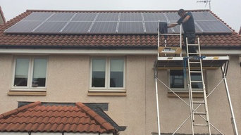 Solar Panels on Scottish Home