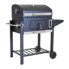 Charles Bentley American Portable Grill BBQ, Charcoal, Large, 60x45 cm