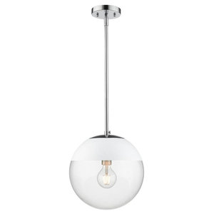 Calix 1 Light Pendant in Aged Brass - Transitional - Pendant