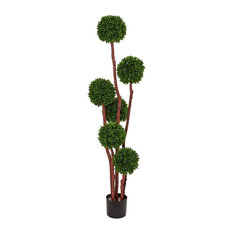 5 ft. Boxwood Artificial Tree in Green