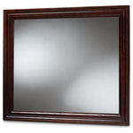 Baxton Studio - Baxton Studio Barton Dark Brown Finished Wood Dresser Mirror - Give any bedroom the illusion of space with the Barton mirror. The Barton features a rich dark brown finish on its beveled wood frame, giving it a refined, elegant look. Its large mirror adds depth and brightness to smaller spaces. Mounting hardware is included so you can attach this mirror to your dresser. The Barton mirror is made in Malaysia and requires assembly.
