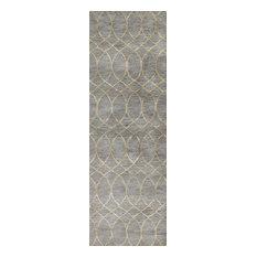 Bashian Marilyn Area Rug, Gray, 2.6'x8'