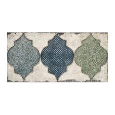 "5.88""x11.88"" Crux Ceramic Wall Tile, Fenice, Set of 22"