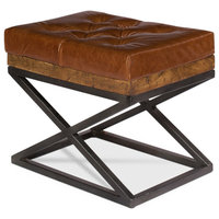 Murphy Leather Cushion Bench
