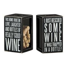 Good Wine Shadow Box, 2 Piece Set