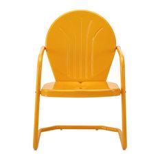 Griffith Metal Chair, Tangerine