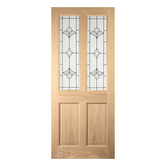 Oregon White Oak 4-Panel Exterior Door, 83.8x198.1 cm