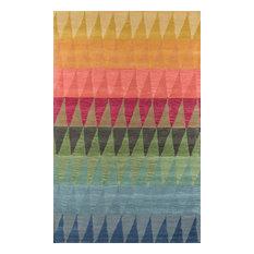 "Delhi Hand-Tufted Rug, Multi Red, 3'6""x5'6"""