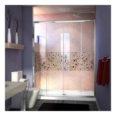 "DreamLine Visions Sliding Shower Door and SlimLine 34""x60"" Shower Base"