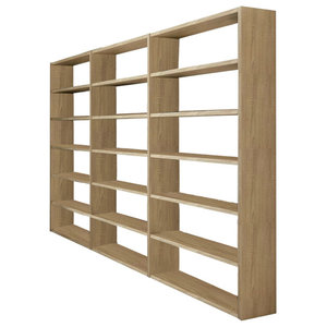 Torero Triple Bookcase, Oak