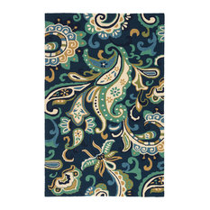 """Jaipur Living Calico Indoor/Outdoor Floral Blue/Green Area Rug, 5'x7'6"""""""