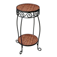 Panacea Ground Plant Stand, Brown