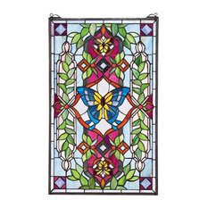 Butterfly Utopia Stained Glass Window