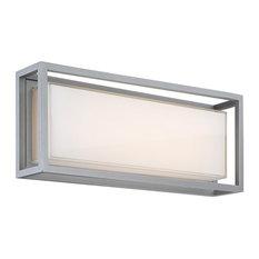 "Modern Forms Framed 20"" LED Outdoor Wall Light, Graphite"