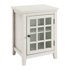 Linon Largo Wood Curio Cabinet In Antique White