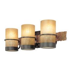 Lake 3 Light Bathroom Vanity Light in Bamboo Bronze