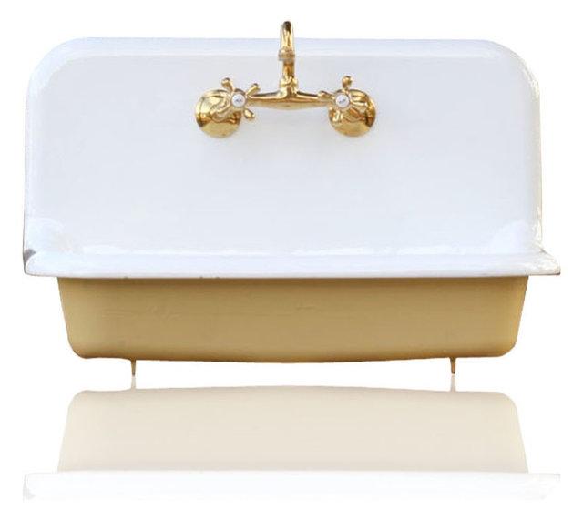 30 High Back Farm Sink Cast Iron Porcelain Kitchen Set Churlish Green