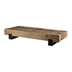 Mathis Teak and Steel Low Coffee Table