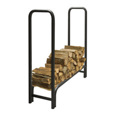 Pleasant Hearth LS938-48 Outdoor Steel Log Rack, 4-Feet Long with 1/4-Cord of W