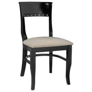 Wondrous Empire Dining Chair Dark Stained Legs Frost Gray Machost Co Dining Chair Design Ideas Machostcouk