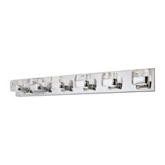"Bathroom Vanity 12-Light With Polished Chrome Finished LED Bulb, 40"", 36W"