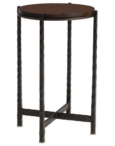Charleston Forge   Nash Round Drink Table   Side Tables And End Tables