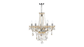 Five Light Glass Chandelier