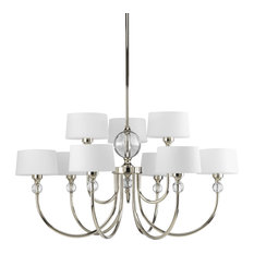 Fortune Collection 9-Light Polished Nickel Chandelier