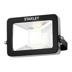 Stanley Zurich Outdoor LED Flood Light, Cool White Light, Black, 10 Watt