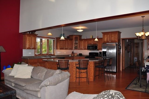 Divider Between Kitchen And Family Room