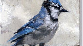 """Blue Jay Canvas Art, 8.75' x 8.75"""""""