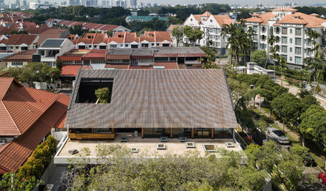 An Unusual Roof Ensures Privacy While Letting in Light