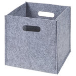 Sammy & Lou - Sammy & Lou Felt Storage Cube - Storage organizers available in a soft sturdy felt will become an everyday essential item for any new parent. Storage cube is designed to keep toys, clothes and more organized. Felt handles allow the cube to be easily moved from room to room. Can also be personalized. Keep clutter out of sight, or collapse the cube when not in use. Felt Storage Cube measures 12 in x 12 in x 12 in.