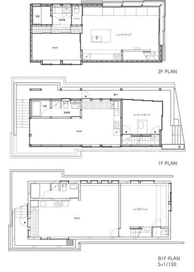 間取り図 by 333architects / 株式会社トリプルスリーアーキテクツ