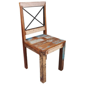 New England Reclaimed Chairs, Set of 2