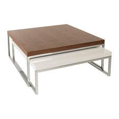 la viola decor tweens veneer coffee table walnut veneer and white lacquer coffee