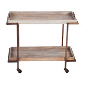 Steve Silver Conway Serving Cart, Light Distressed Finish