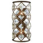 Elk lighting - Armand 2 Light Wall Sconce in Weathered Bronze with Champagne Plated Crystal - The Armand collection is designed with an intricate laser cut pattern adorned with large crystals. The crystals have the same shape as the openings cut into the metalwork, allowing the two contrasting elements to become a seamless presentation of light.