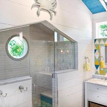 Room of the Day: Coastal Bathroom Raises the Roof