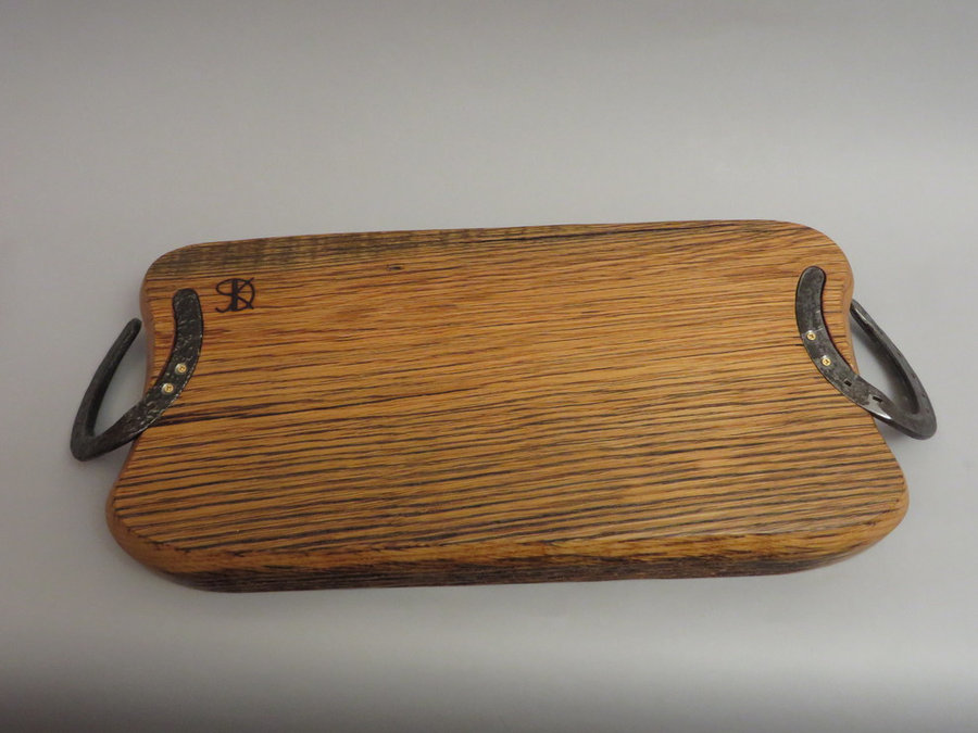 #1409 Oak Serving Board (Detail of Revese side)